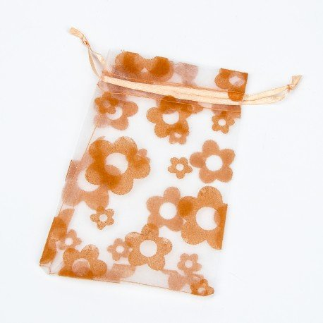 Sachets en Organza Orange 20 x 16