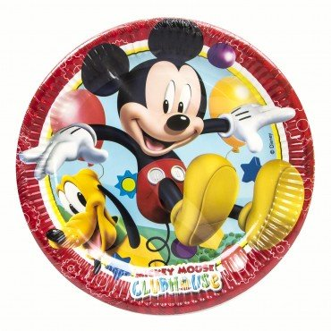 Assiettes Carton Mickey Mouse