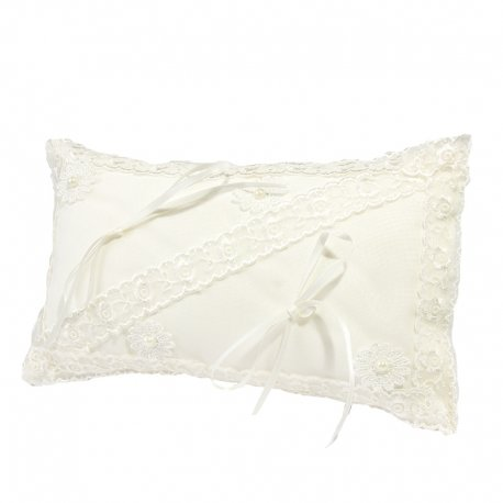Coussin Blanc Mariage