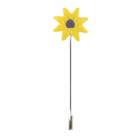 Broche Épingle Boutonnière Tournesol