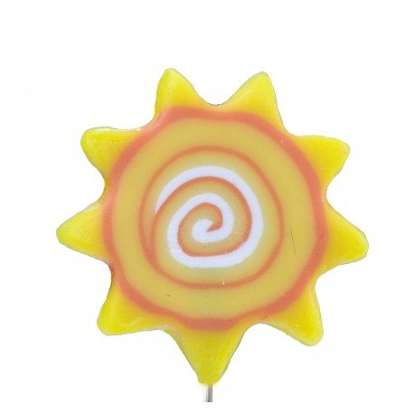 Broche Épingle Fantaisie Soleil