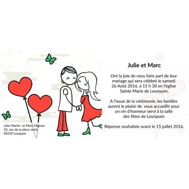 Invitations Mariage Originales
